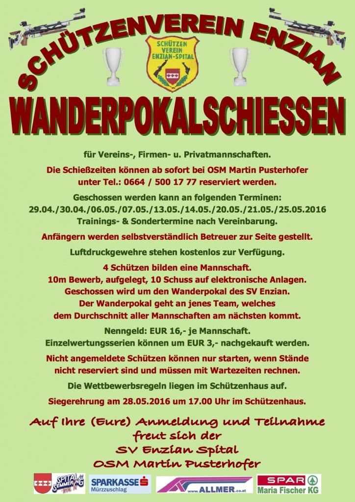 Schützenverein Enzian Wanderpokal2016